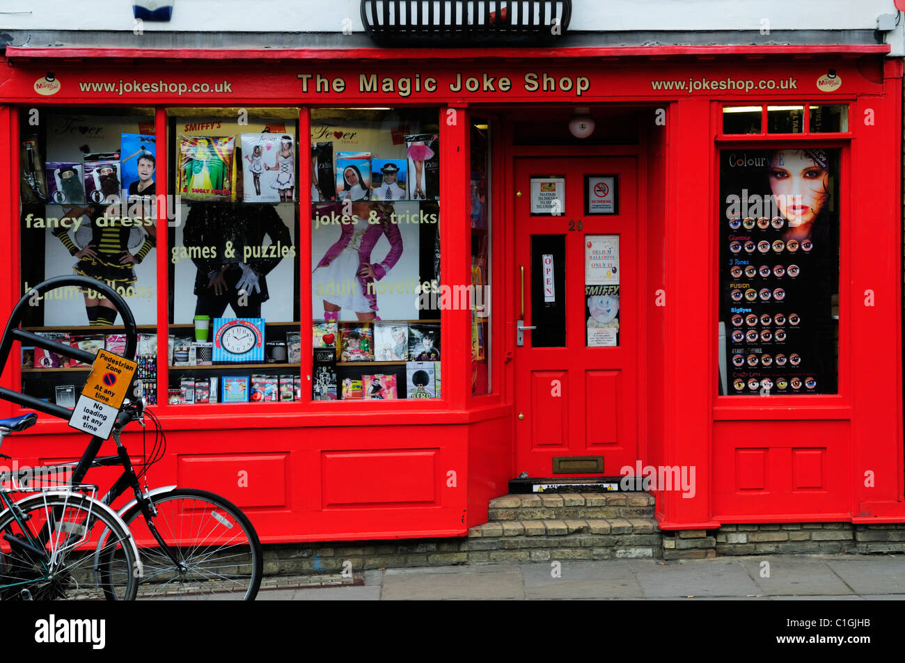 The Magic Joke Shop, Bridge Street, Cambridge, England, UK - Stock Image