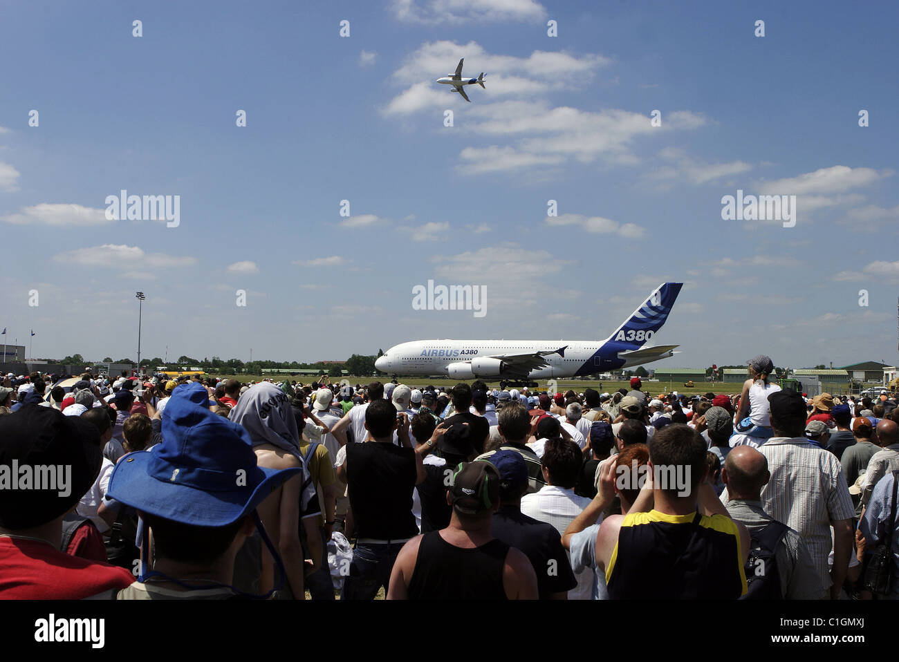 France, Seine Saint Denis, Air and Space exposition of Le Bourget 2005, A380 show - Stock Image