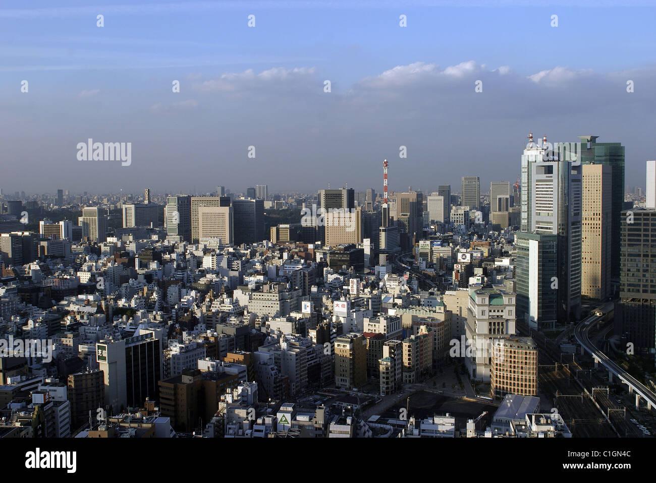 Japon, Honshu Island, Tokyo city - Stock Image