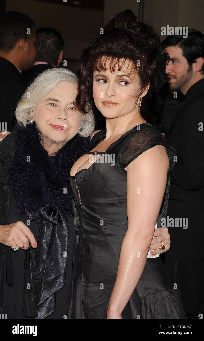 HELENA BONHAM CARTER  UK film actress with her mother in March 2011. Photo Jeffrey Mayer - Stock Image