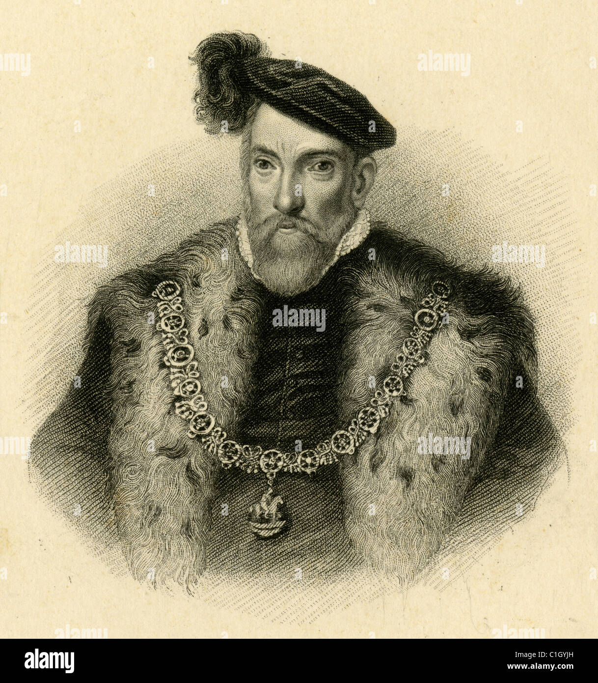 Henry FitzAlan, 19th Earl of Arundel - Stock Image