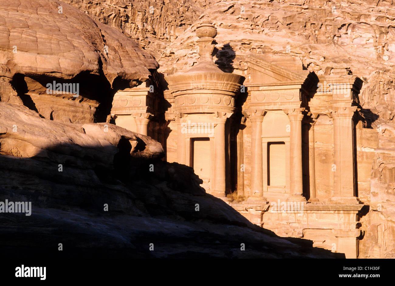 Jordan, Petra, Ed Deir tomb called the monastery Stock Photo