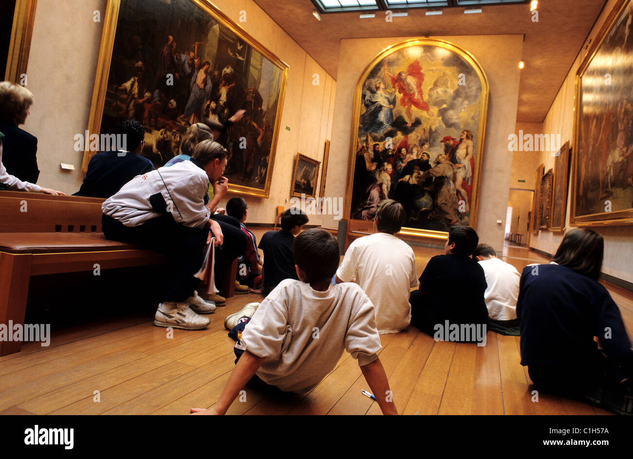 France, Rhone, Lyon museum of fine art, room of Rubens Stock Photo