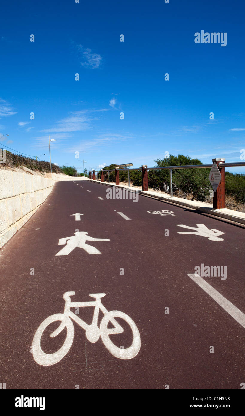 Shared pedestrian and cycle path. - Stock Image