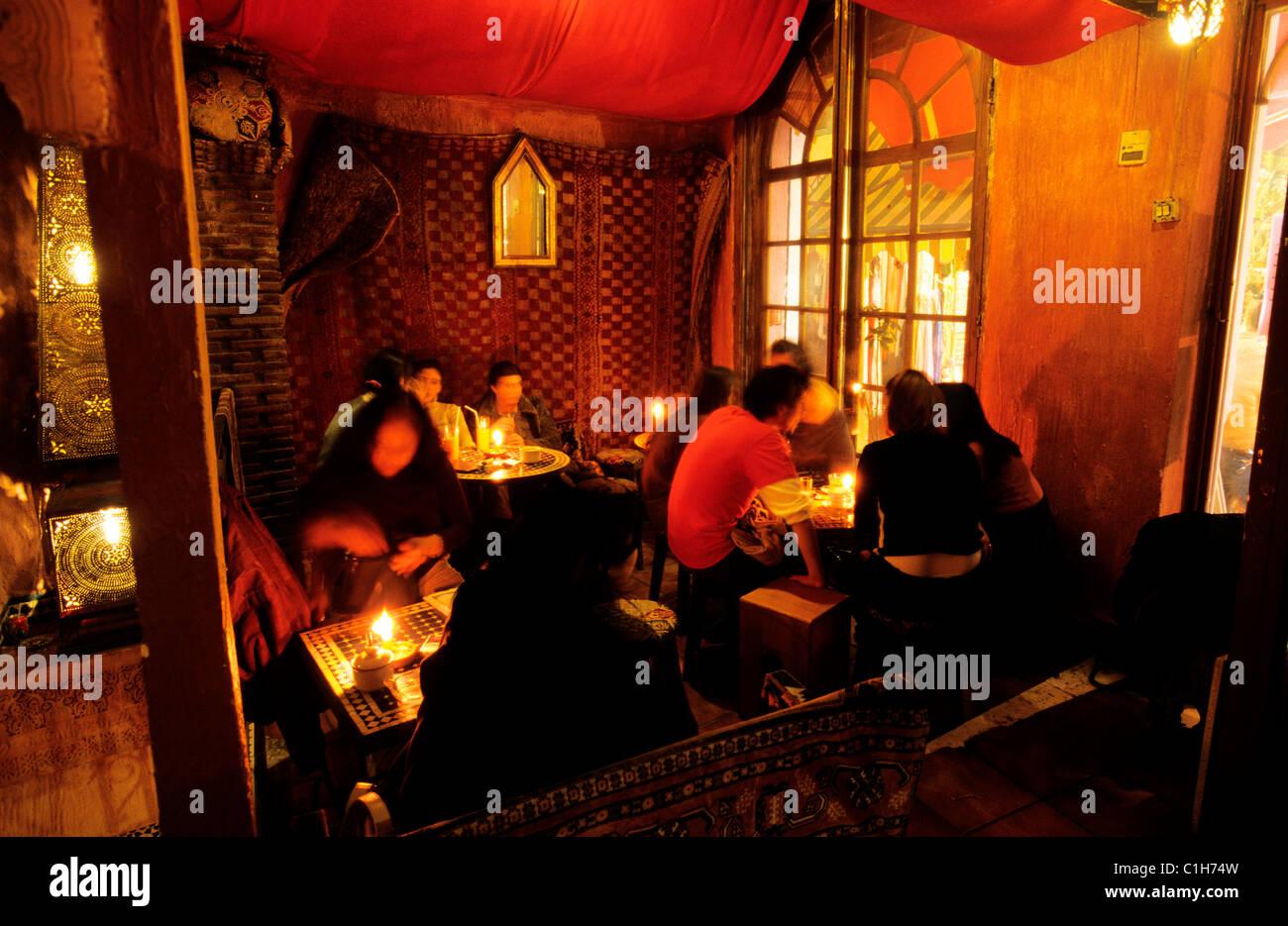 Spain, Andalusia, Grenada, a teteria (tearoom) in the arab area of Albayzin Stock Photo