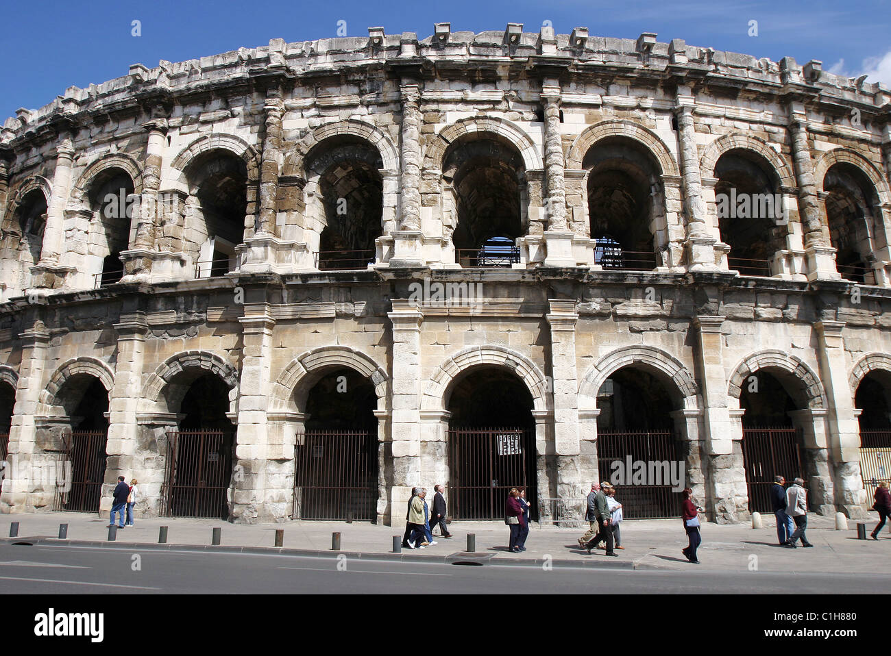 France, Gard, the Nimes city's arenas - Stock Image