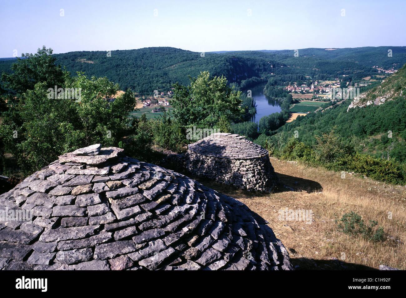France, Lot, vallee du Lot, des gariottes pres de Saint Martin, la Bouval - Stock Image
