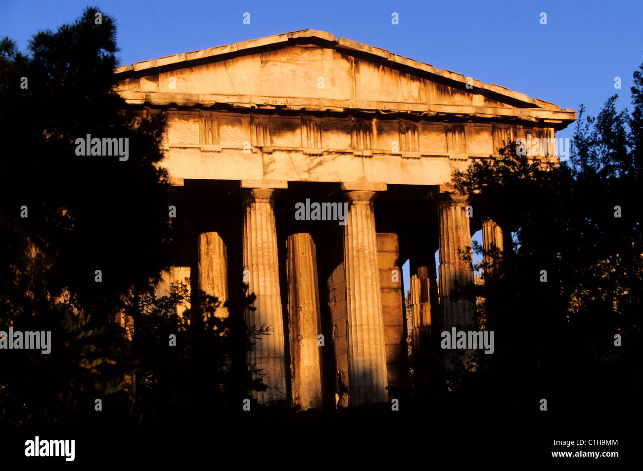 Greece, Athens, the Theseion (a 5th century BC doric temple) - Stock Image