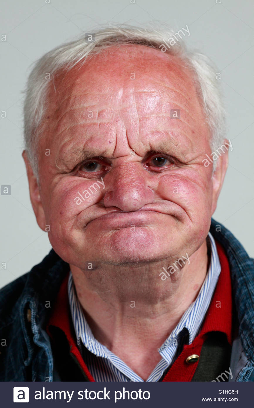 Portrait of an elderly man without teeth stock photo What do you buy an 80 year old man