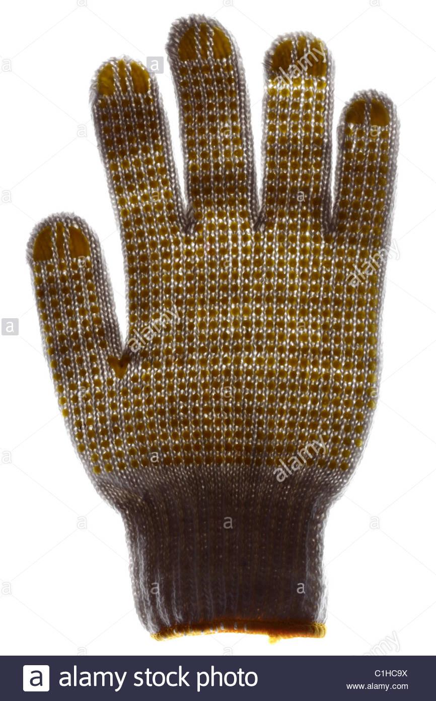 anti slip work glove - Stock Image