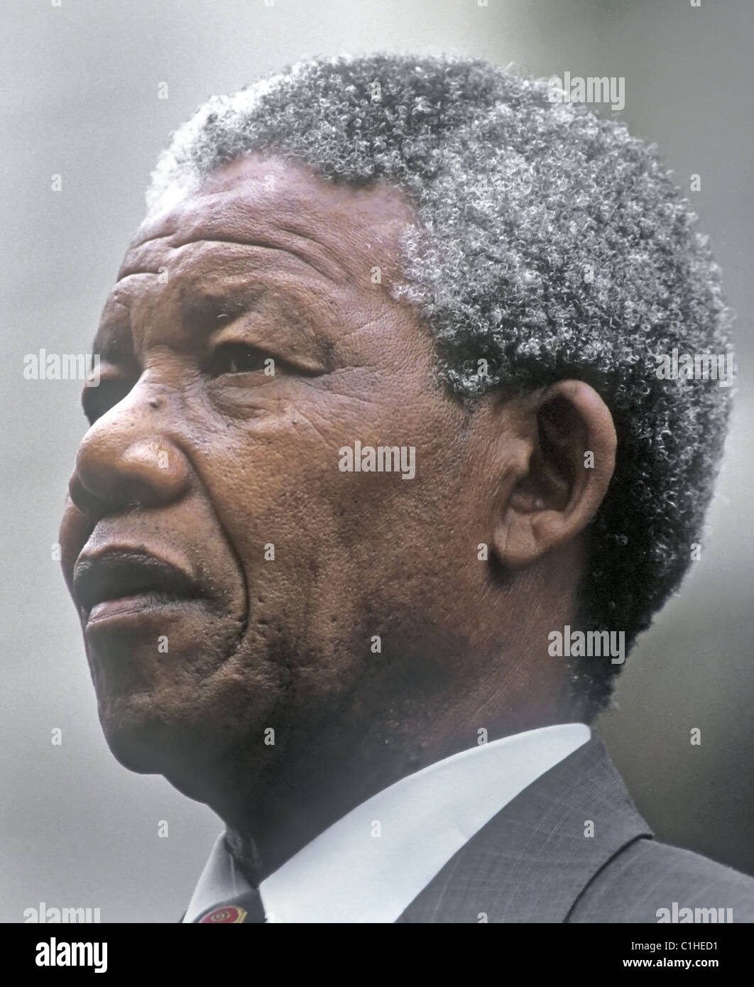 Nelson Mandela during his visit to New York, June 20, 1990. - Stock Image