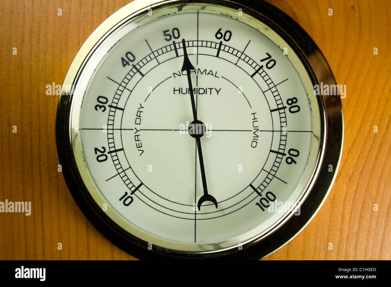 Hygrometer - Air Humidity Gauge - Stock Image