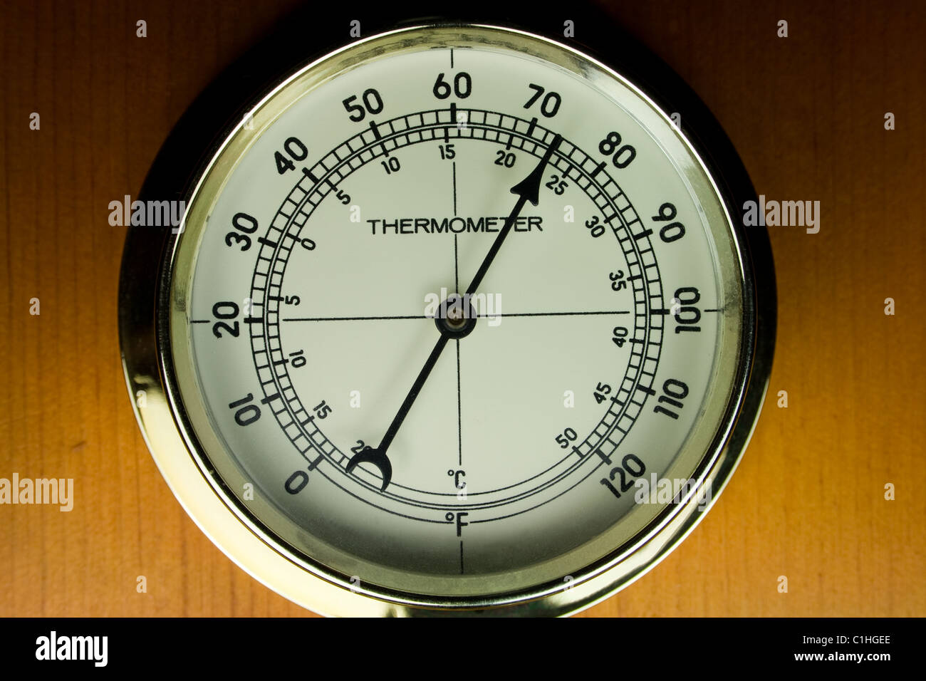 Indoor Dial Thermometer - Stock Image