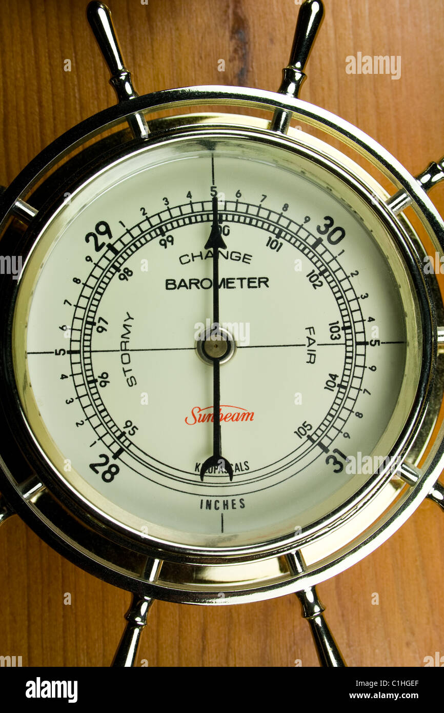 Barometer - Atmospheric Air Pressure Gauge - Stock Image