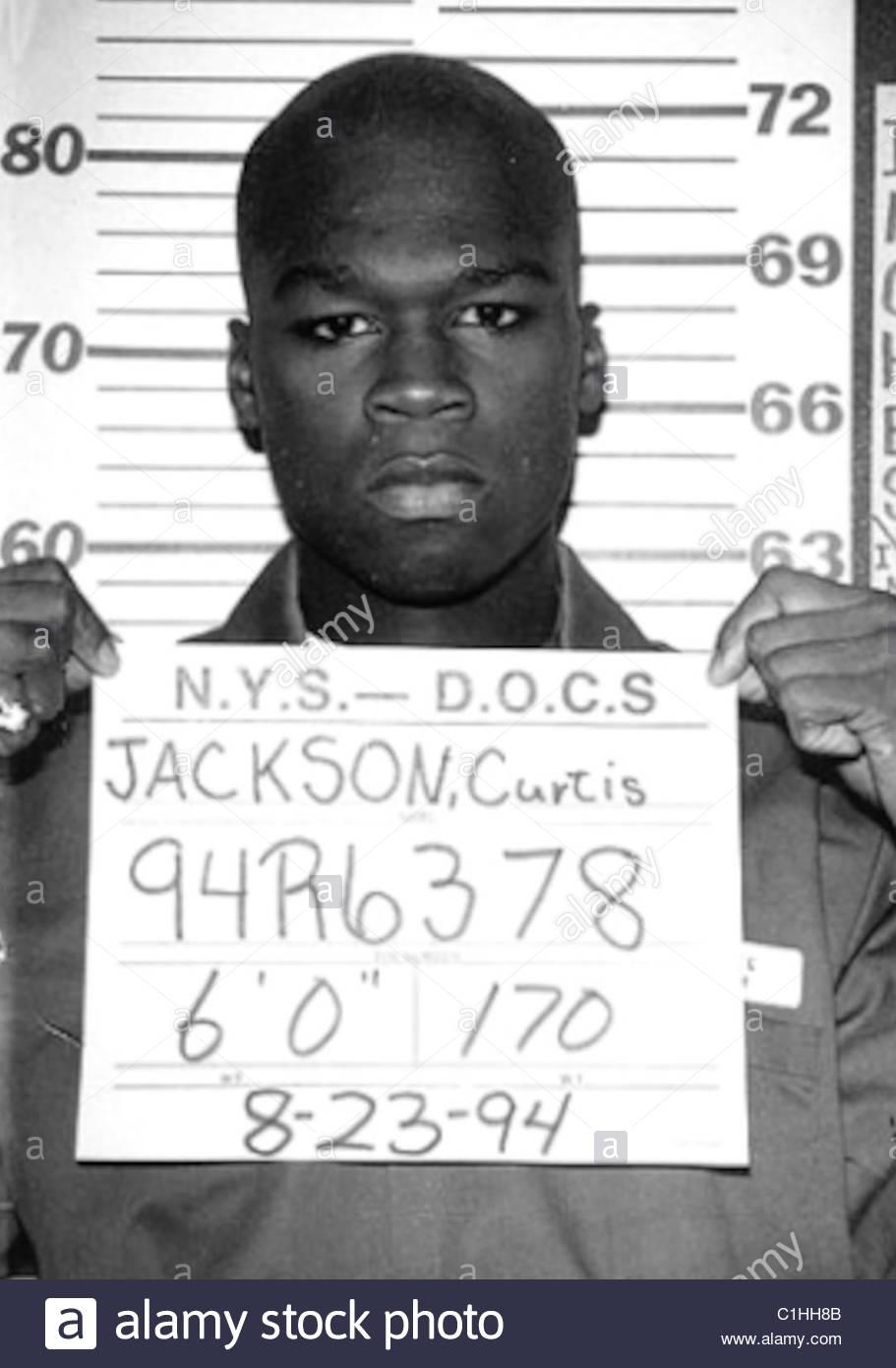 Rapper 50 Cent aka Curtis Jackson Mugshot Stock Photo
