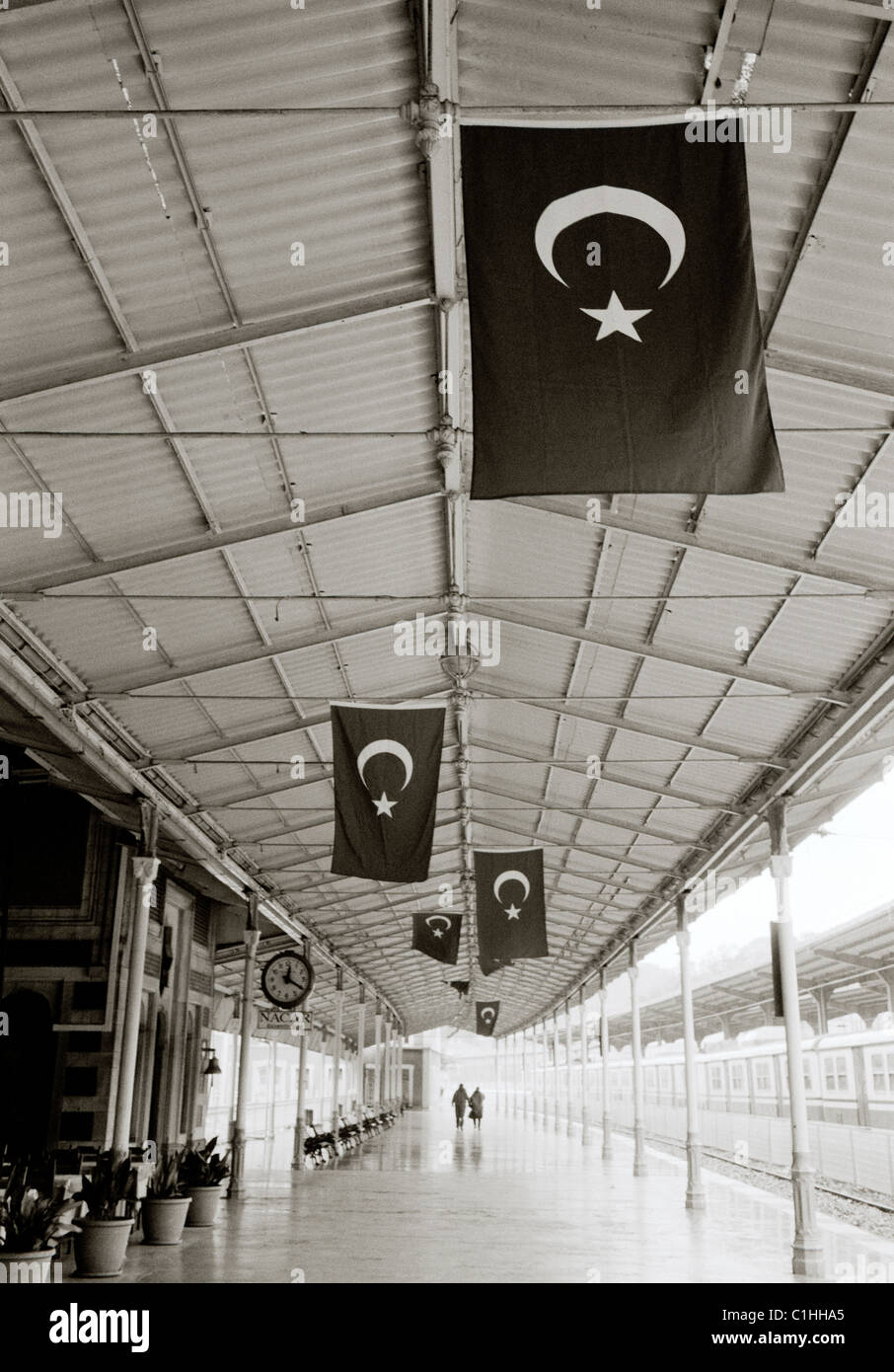 Sirkeci Train Railway Station in Istanbul in Turkey in Middle East Asia. Orient Express History Historical Turkish - Stock Image