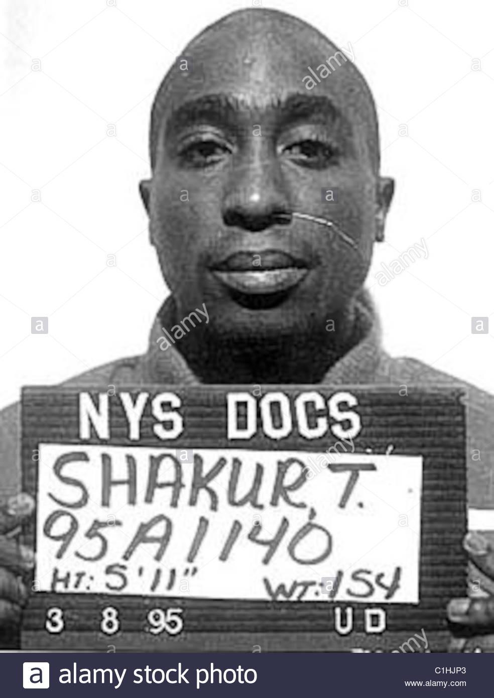 Tupac 2pac shakur mugshot stock image