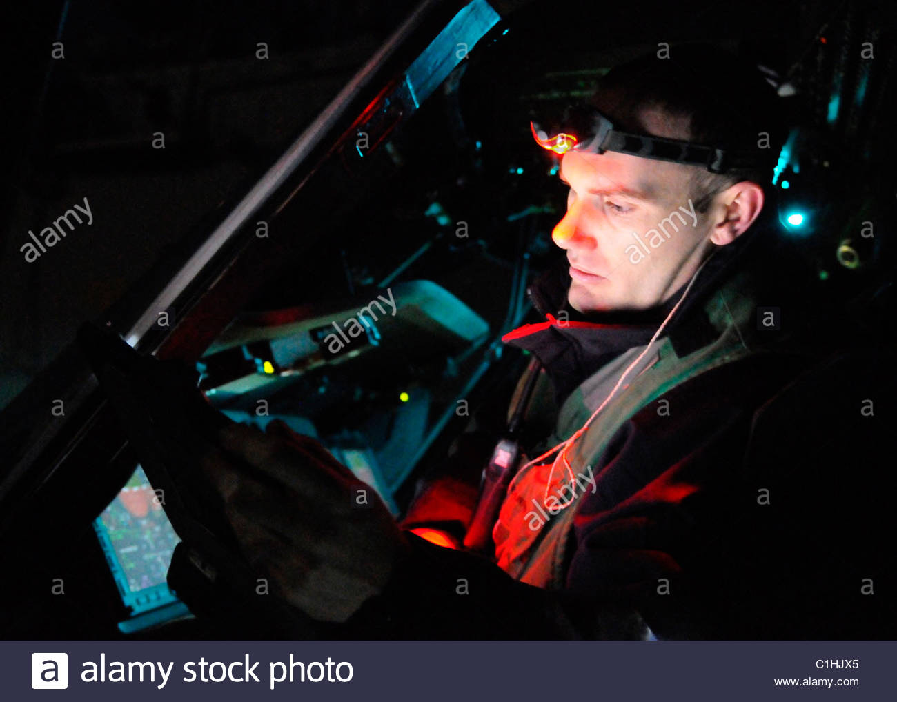 2011 March - US NAVY - Libya - Helicopter Sea Combat Squadron (HSC) - Stock Image