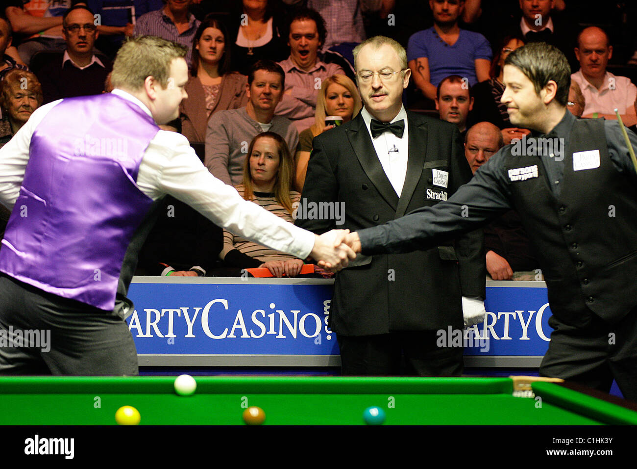20.03.2011 - Shaun Murphy in action against Martin Gould- The Final of the Snooker Players Tour Championship Grand - Stock Image