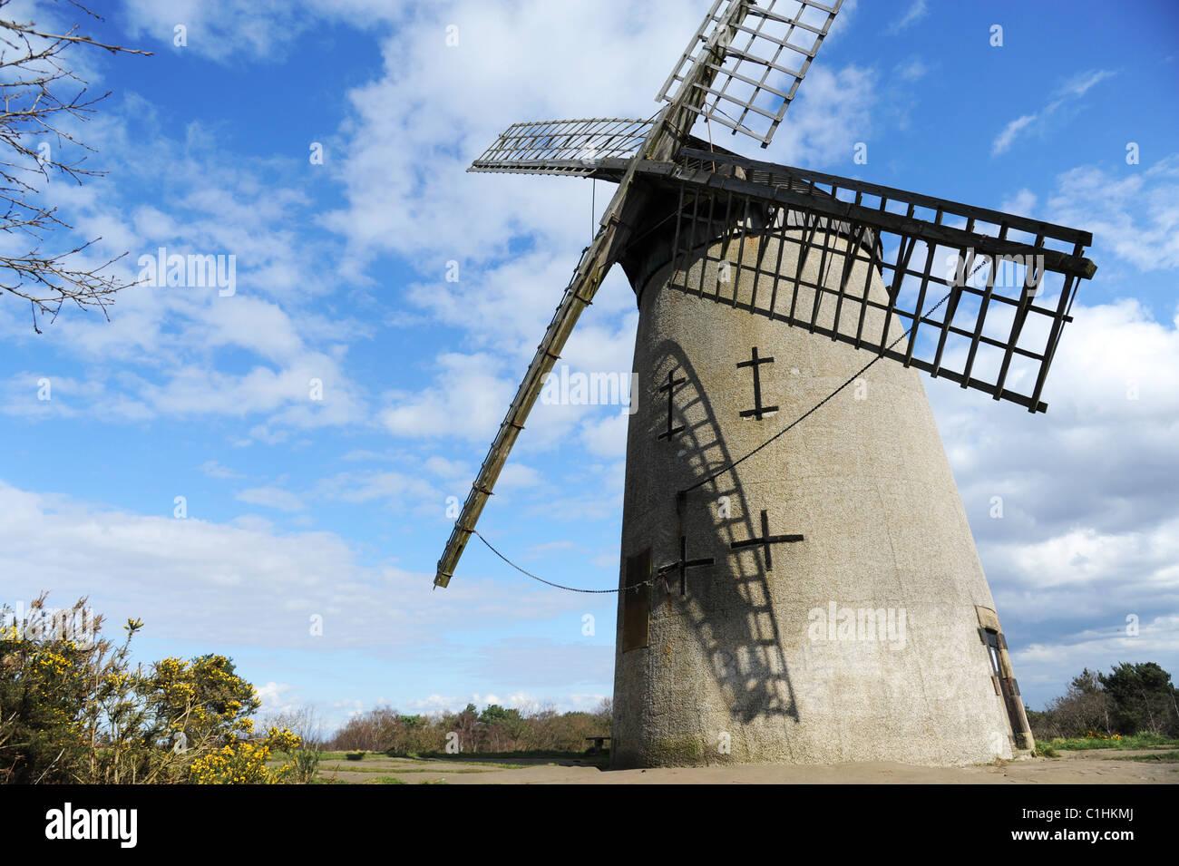 Bidston windmill on Bidston Hill, Wirral Peninsula. - Stock Image