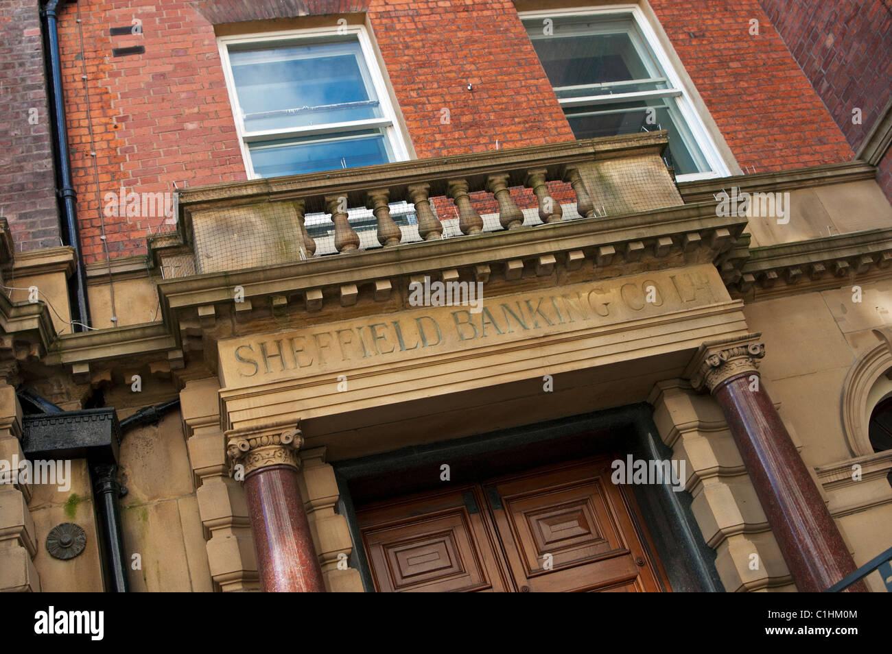Sheffield Banking Company Ltd. building - Stock Image