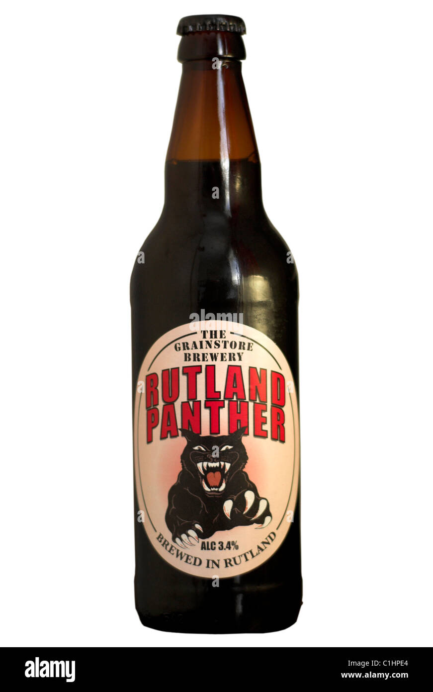 The Grainstore Brewery Rutland Panther bottled beer - current @ 2011. - Stock Image