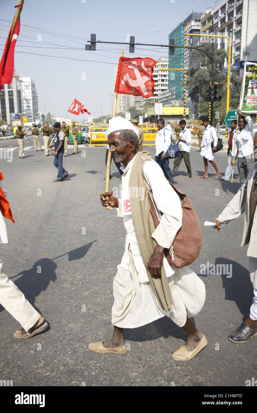 IND, India,20110310,protest march ,Demo AIKS ( All india Kisan Sabha) Stock Photo