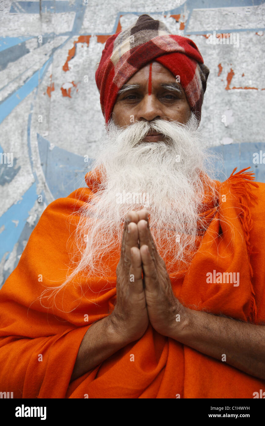 IND, India,20110310, man to the pilgrims path Stock Photo