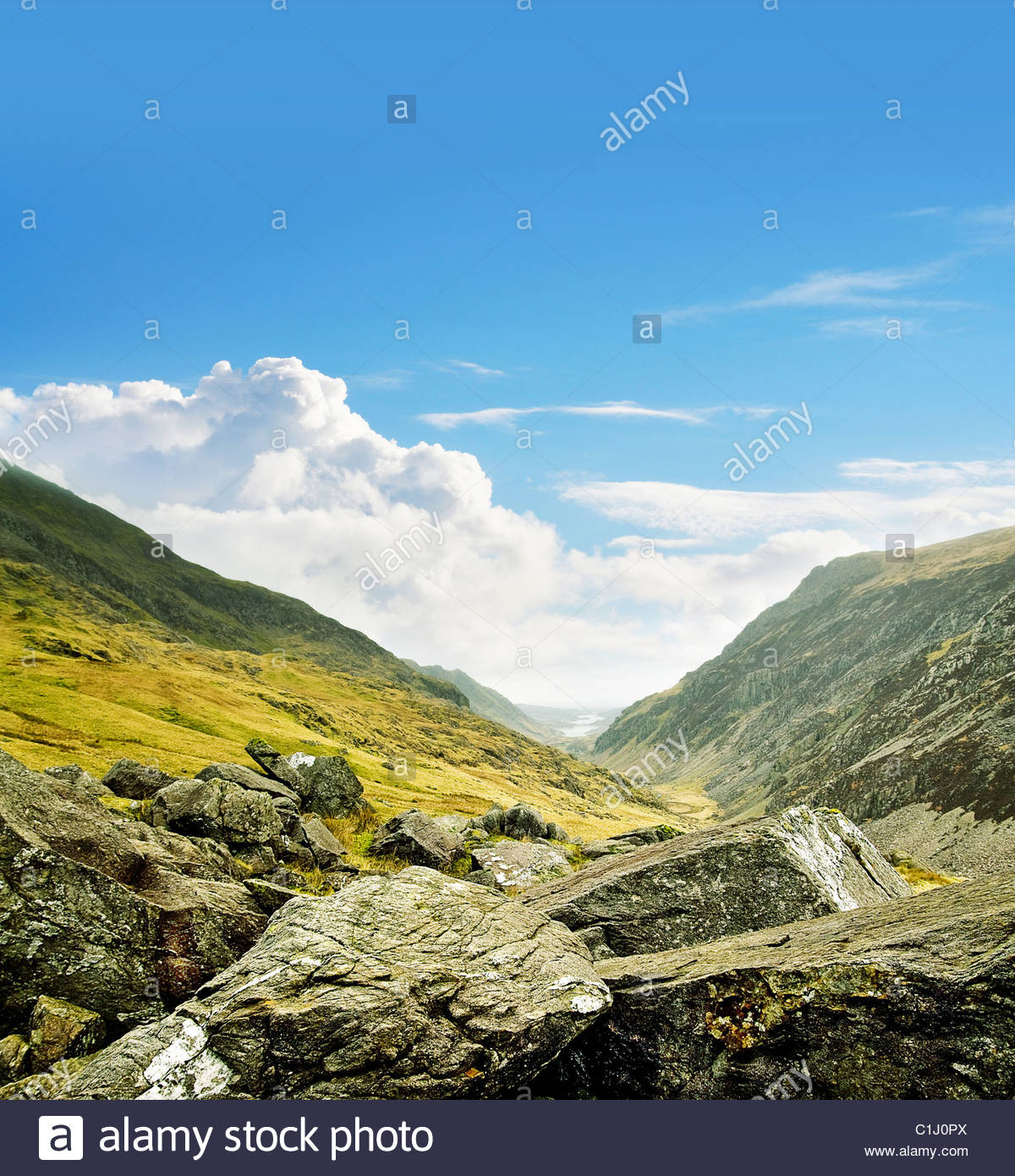 Sunny mountains - Stock Image