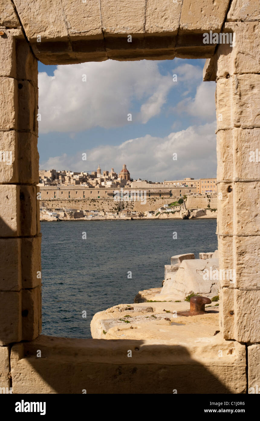 View over Valletta Harbour, Valletta, Malta Stock Photo