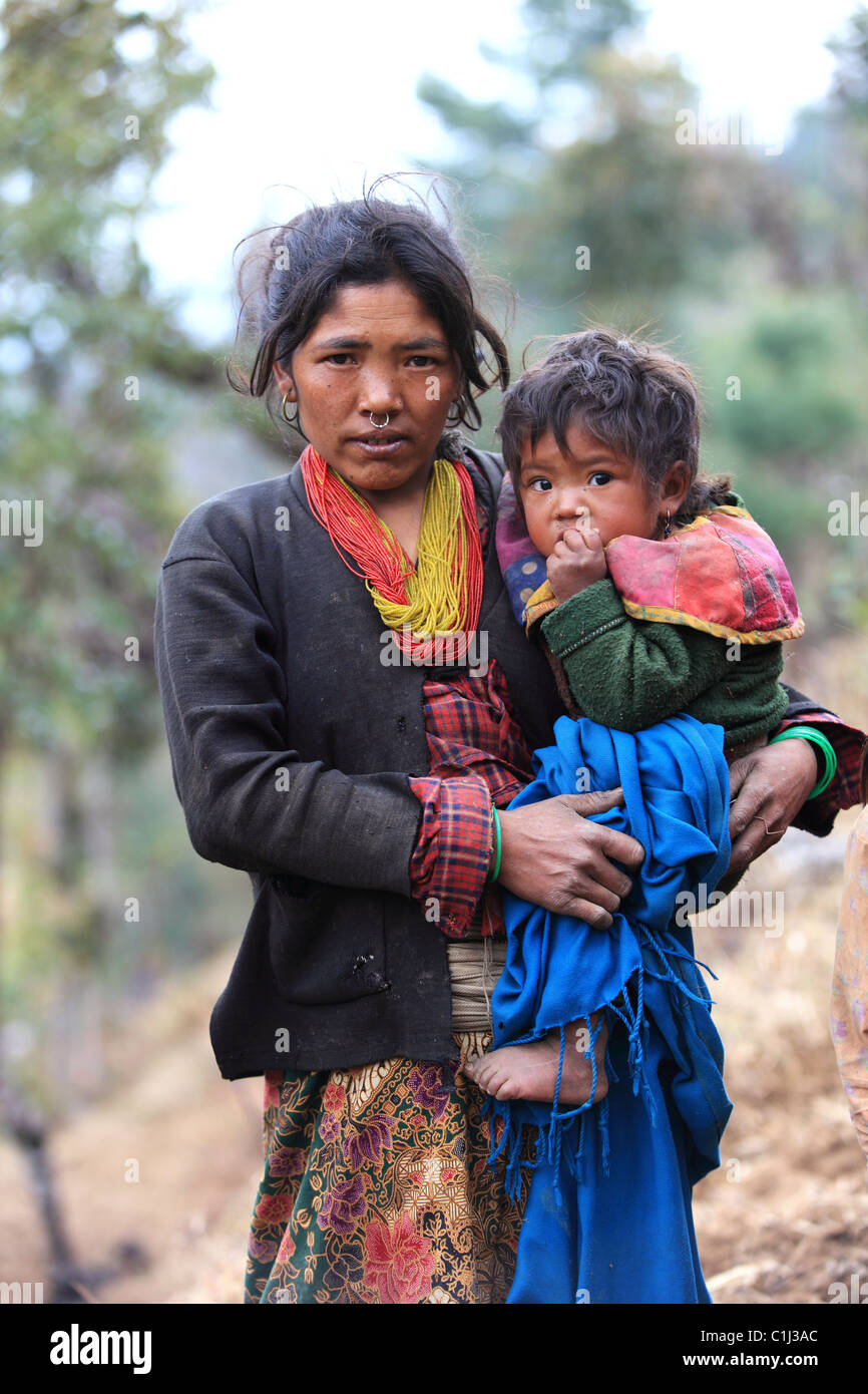 Nepal girl mother baby stock photos nepal girl mother baby stock nepali mother with child stock image ccuart Gallery