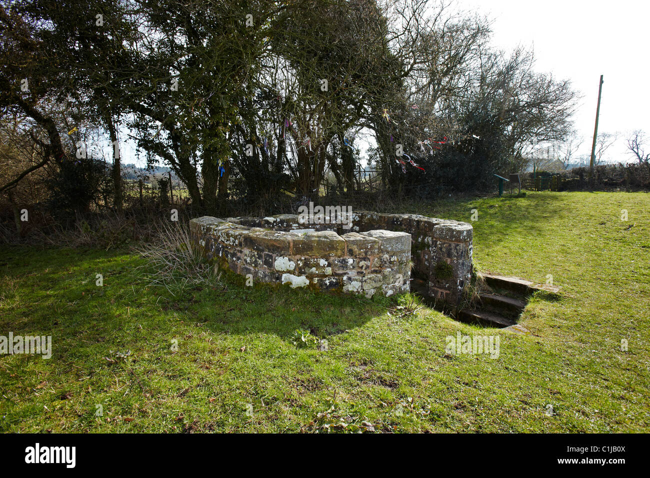 St Annes or Virtuous Well, Trellech, South Wales, UK Stock Photo