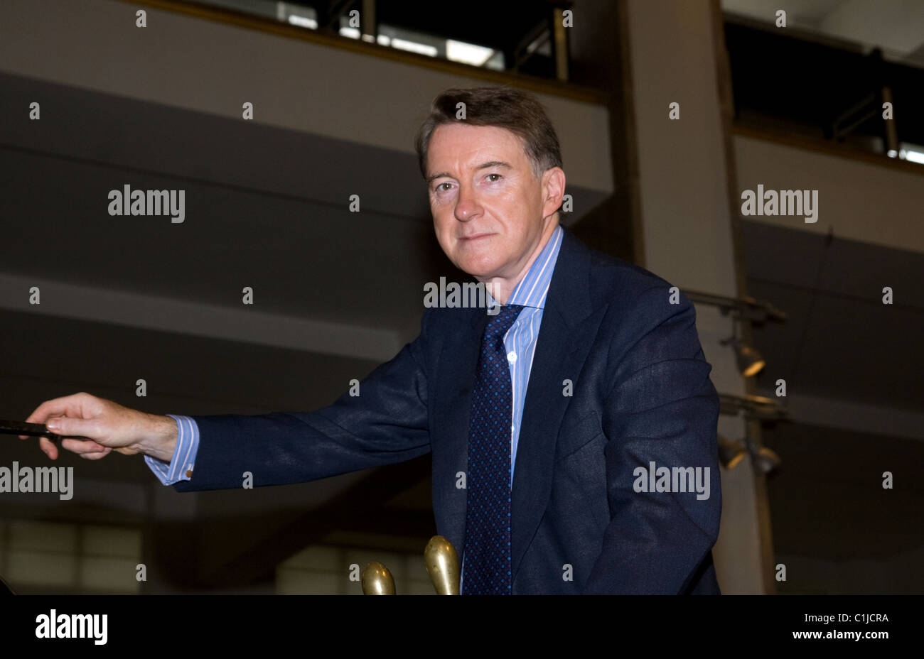 Lord Peter Mandelson 'Centenary Journey' launch at the Science Museum London, England - 09.06.09 Stock Photo