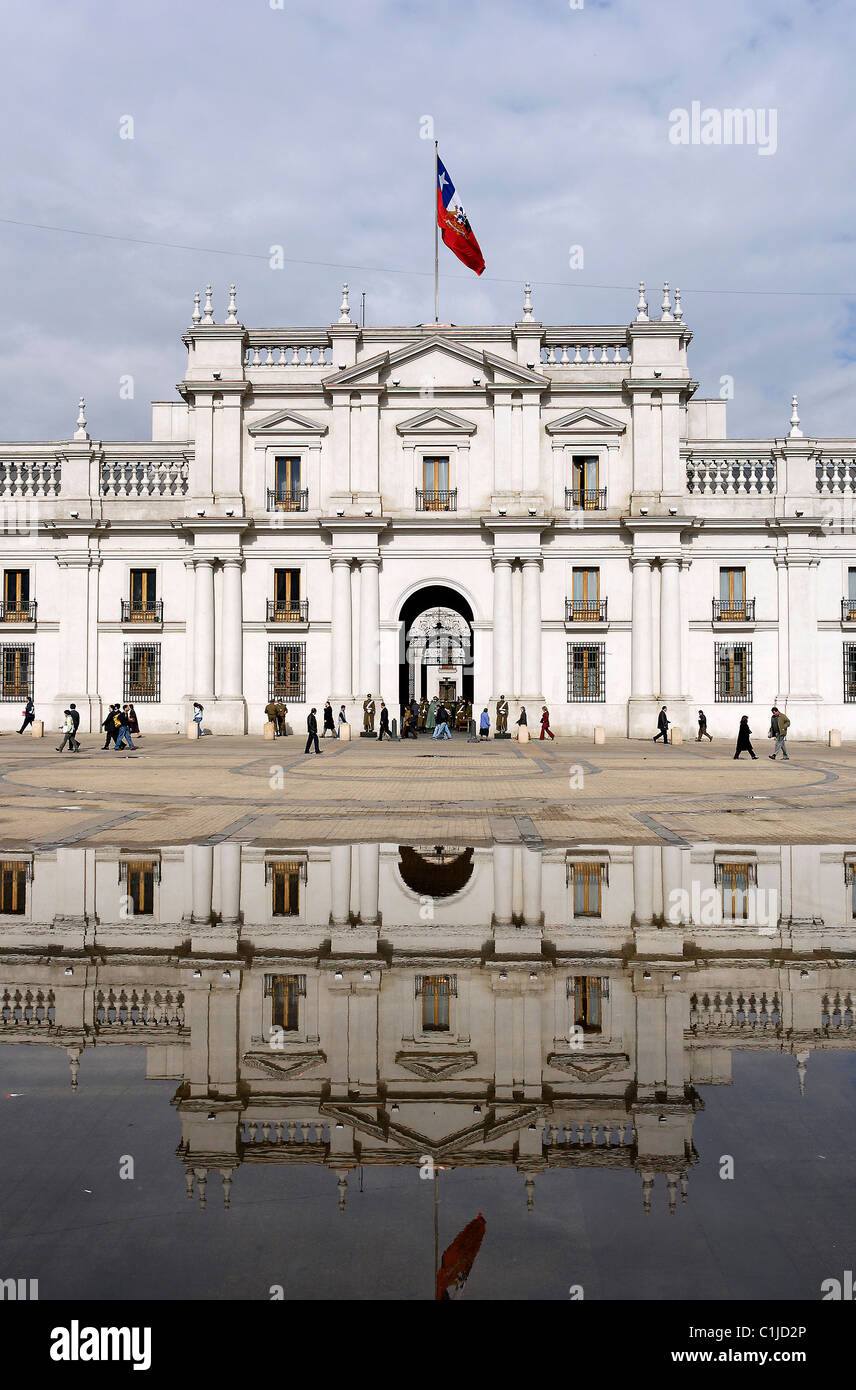 Chile Santiago La Moneda Palace is considered a masterwork in the civil architecture of colonial Latin America & - Stock Image
