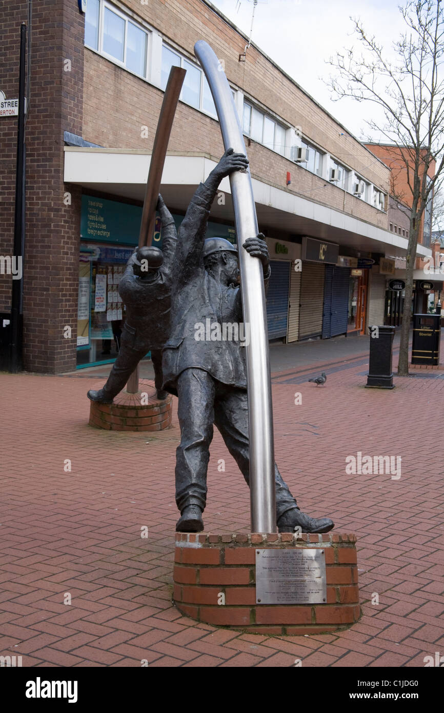 Wrexham North Wales The Arc sculpture by David Annand unveiled in February 1996 - Stock Image