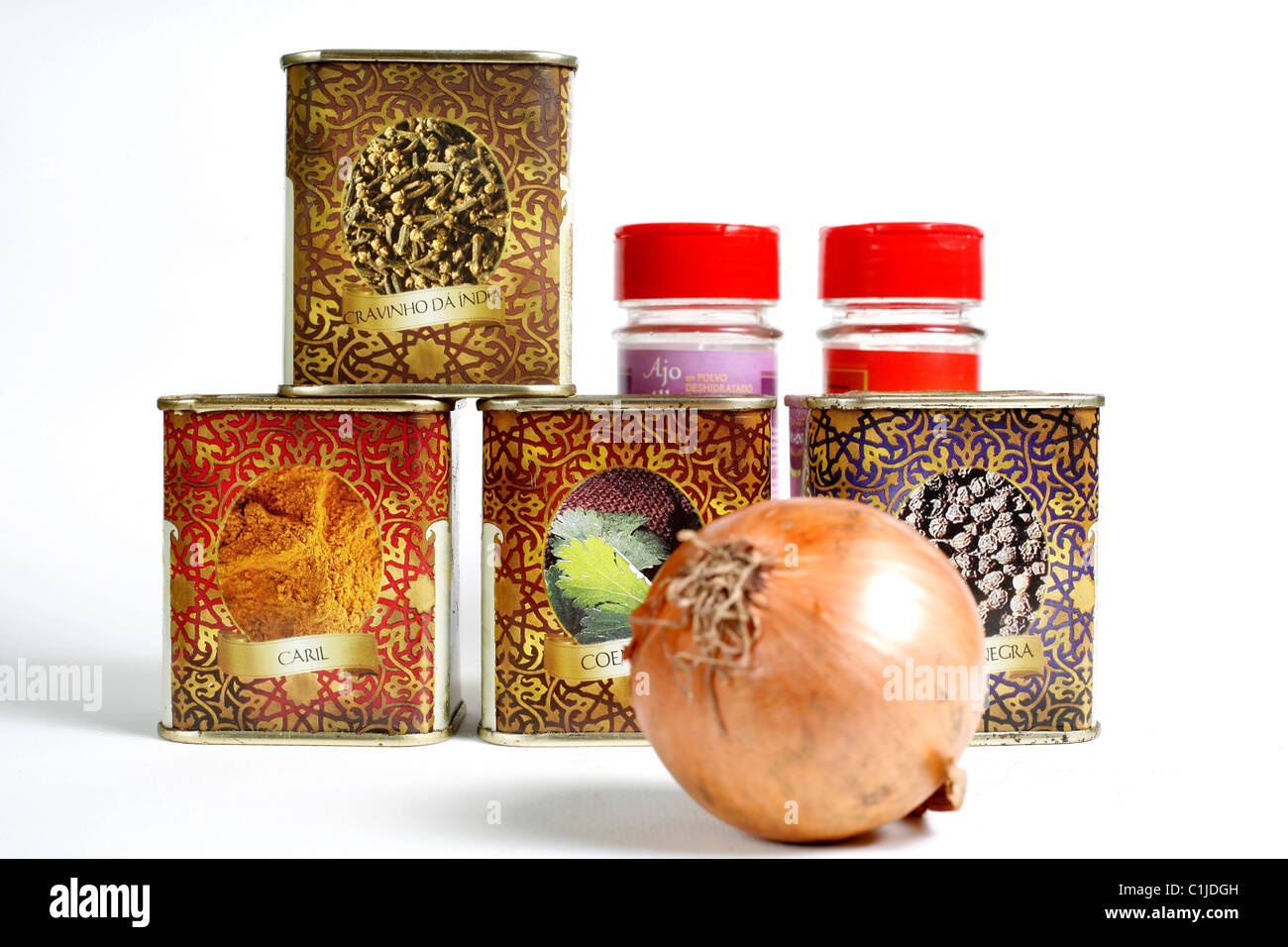 Spices recipients Stock Photo