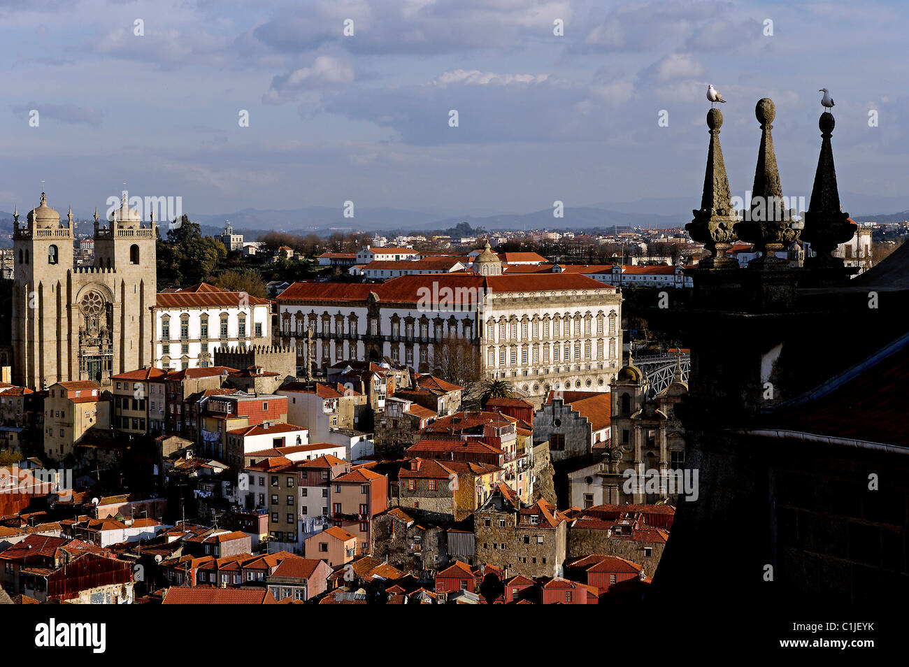 Portugal, Porto, view from the former prison of Porto Court of Appeal (1752) - Stock Image
