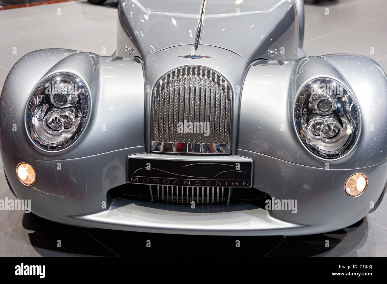 Morgan Aero supersports car on display at Geneva Motor Show 2011 Switzerland Stock Photo