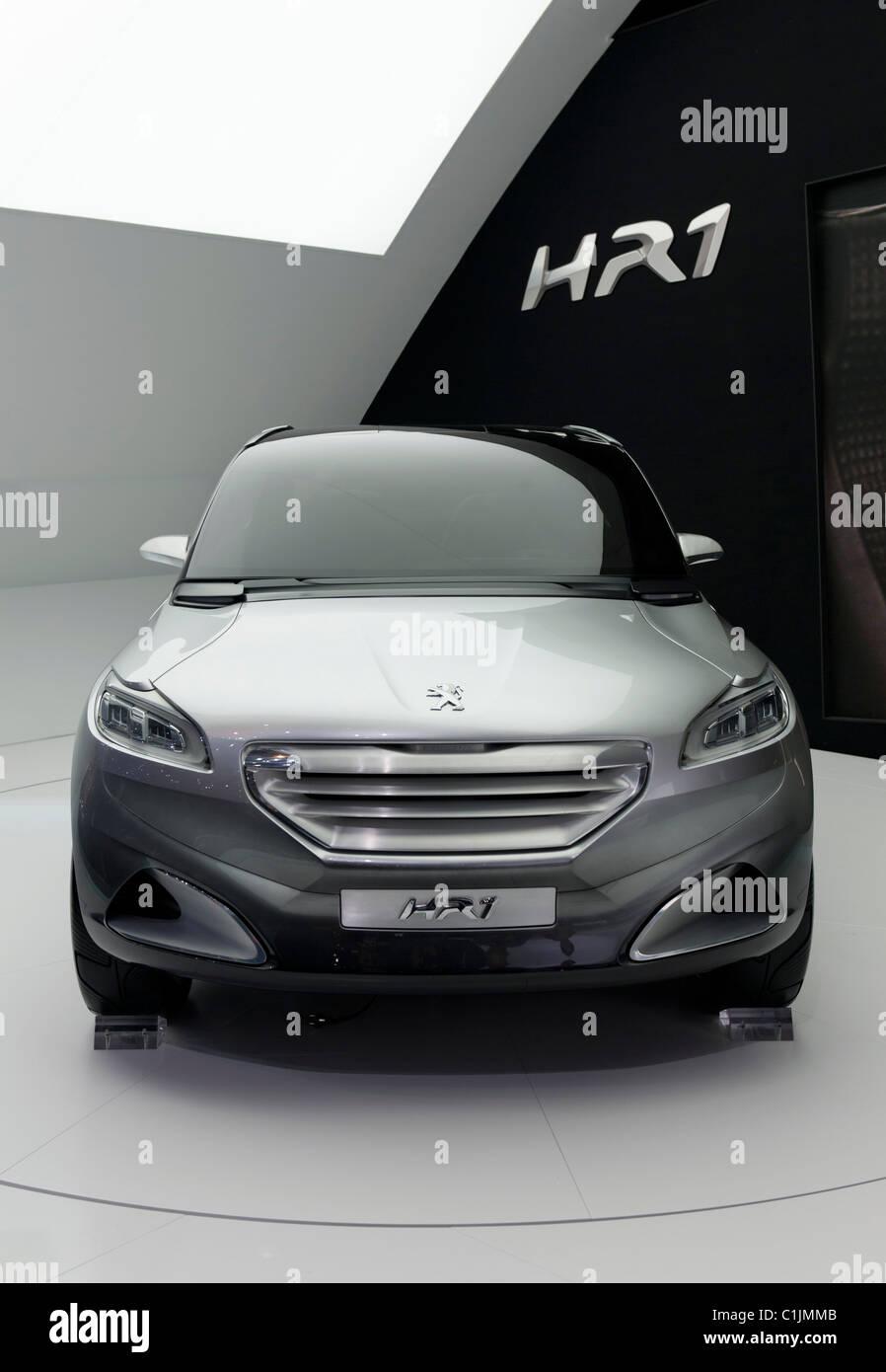 Peugeot HR1 concept Hybrid petrol concept car at the Geneva Motor Show 2011 Switzerland - Stock Image