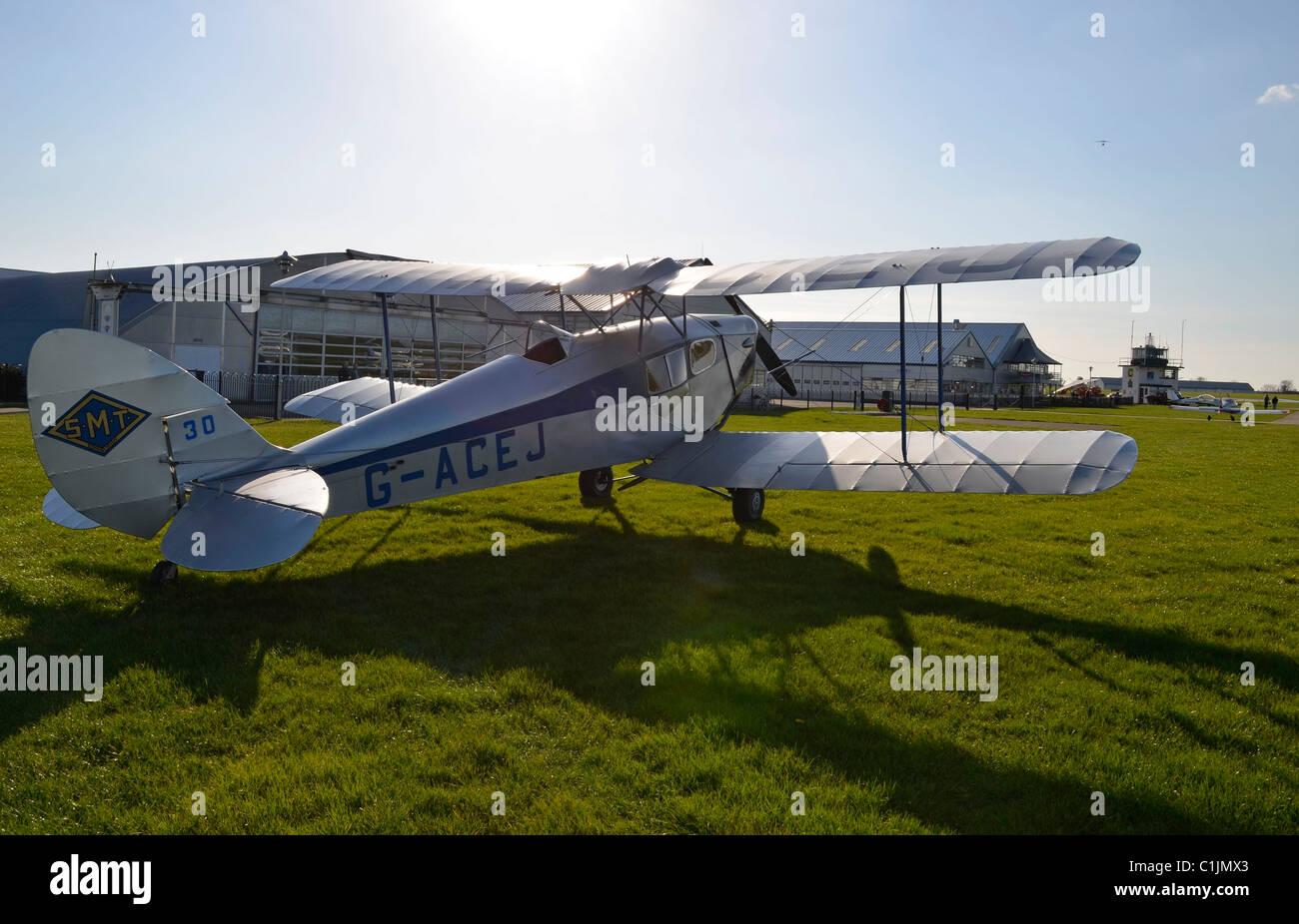 DH 83 fox moth - Stock Image