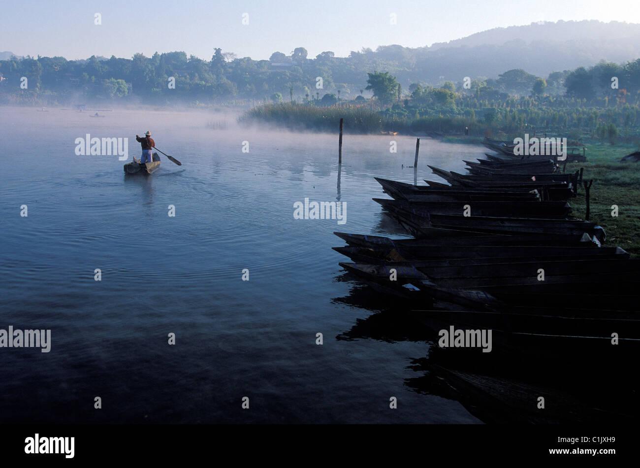 Guatemala, Solola Department, Atitlan Lake area, Santiago Atitlan - Stock Image