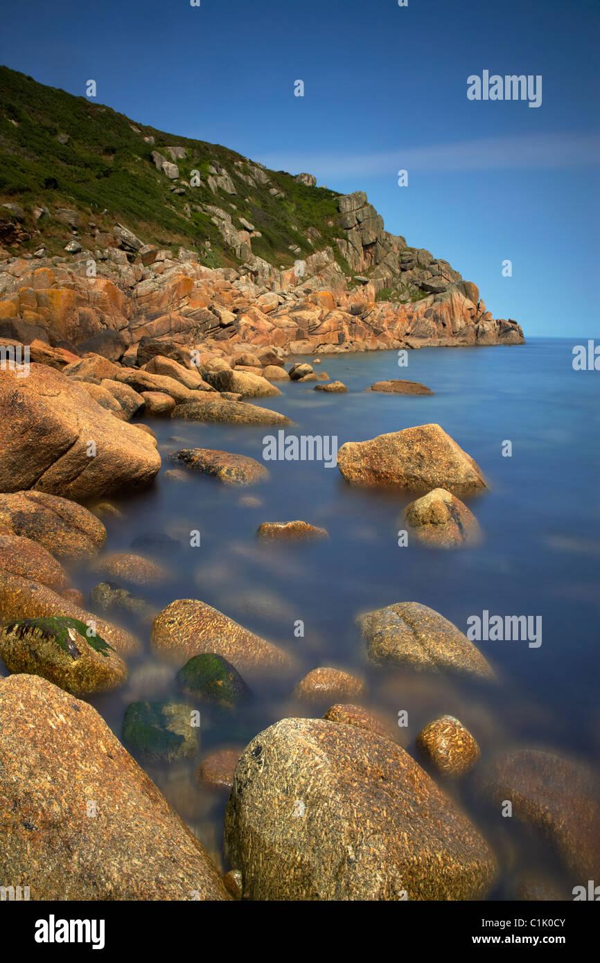 Penberth Cove on the Cornish coast Cornwall UK - Stock Image