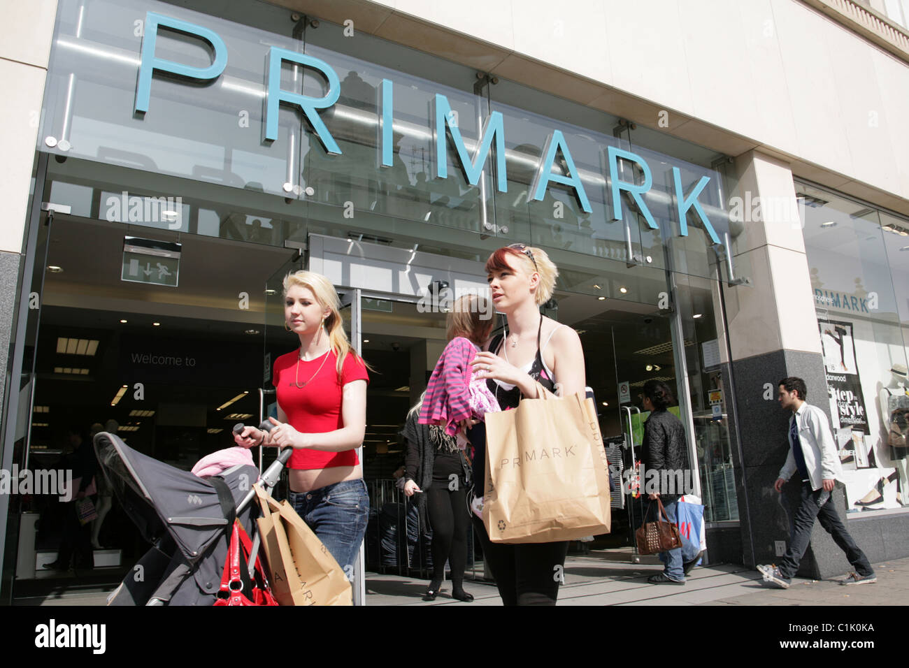 Primark shop front and shoppers. - Stock Image