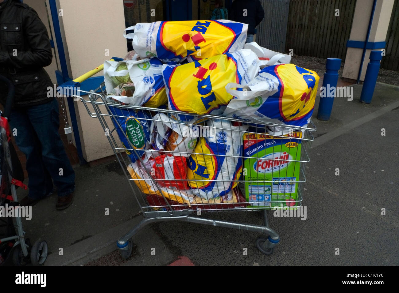 Plastic Bags Full With Groceries Stock Photos Plastic Bags Full