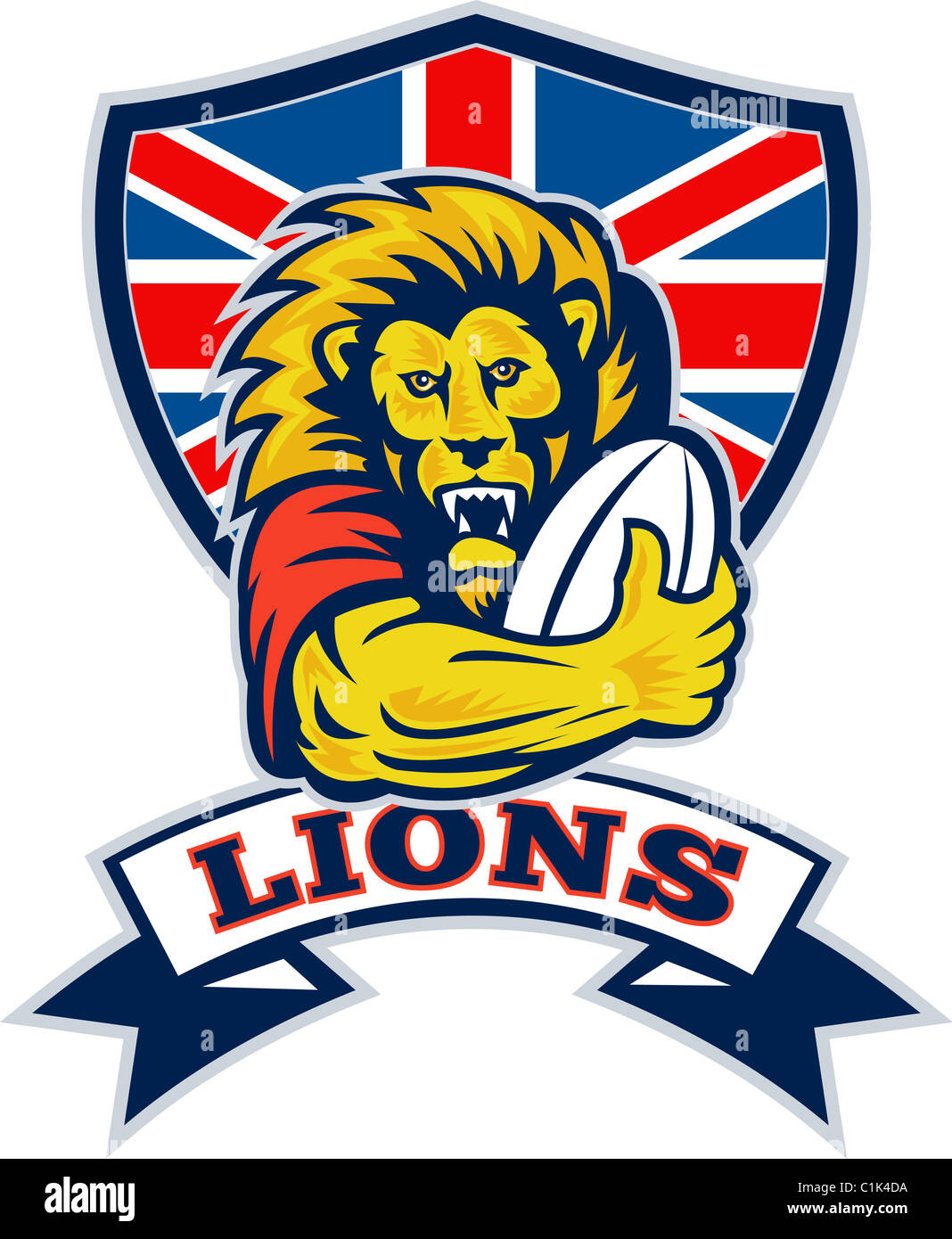 British Lion And Union Jack Stock Photos & British Lion And Union ...
