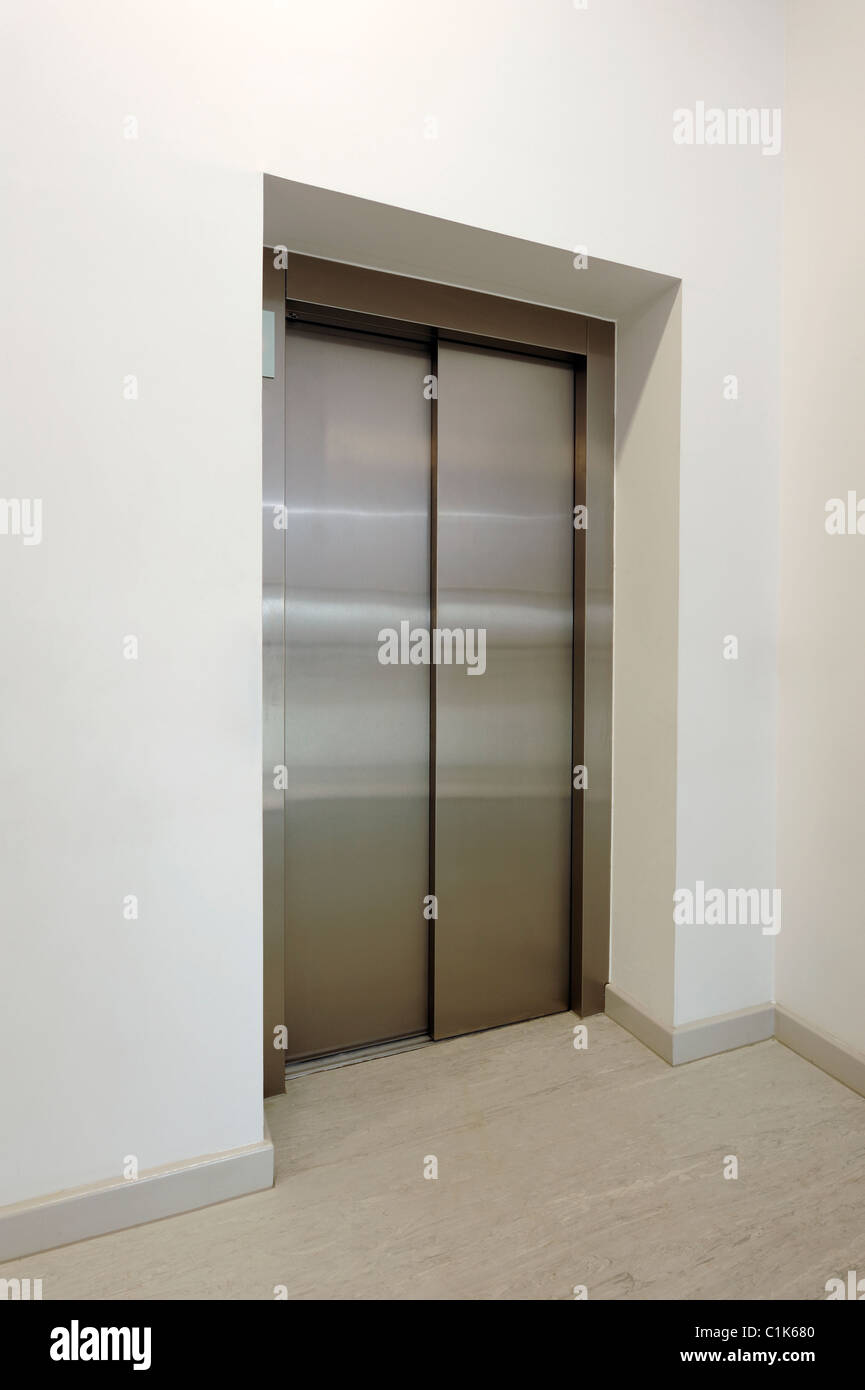 Lift door - Stock Image
