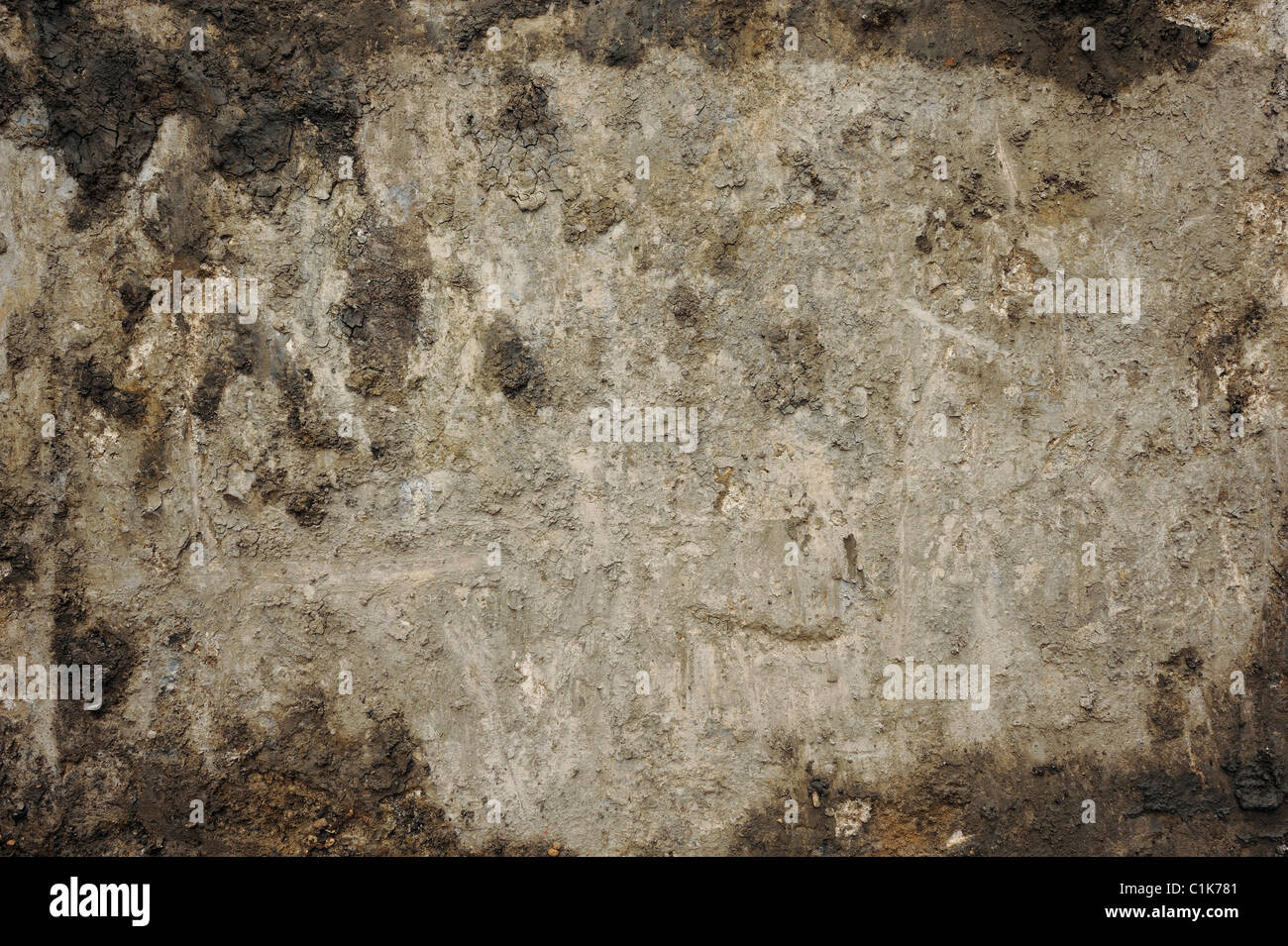 Dirty mud and concrete abstract texture - Stock Image