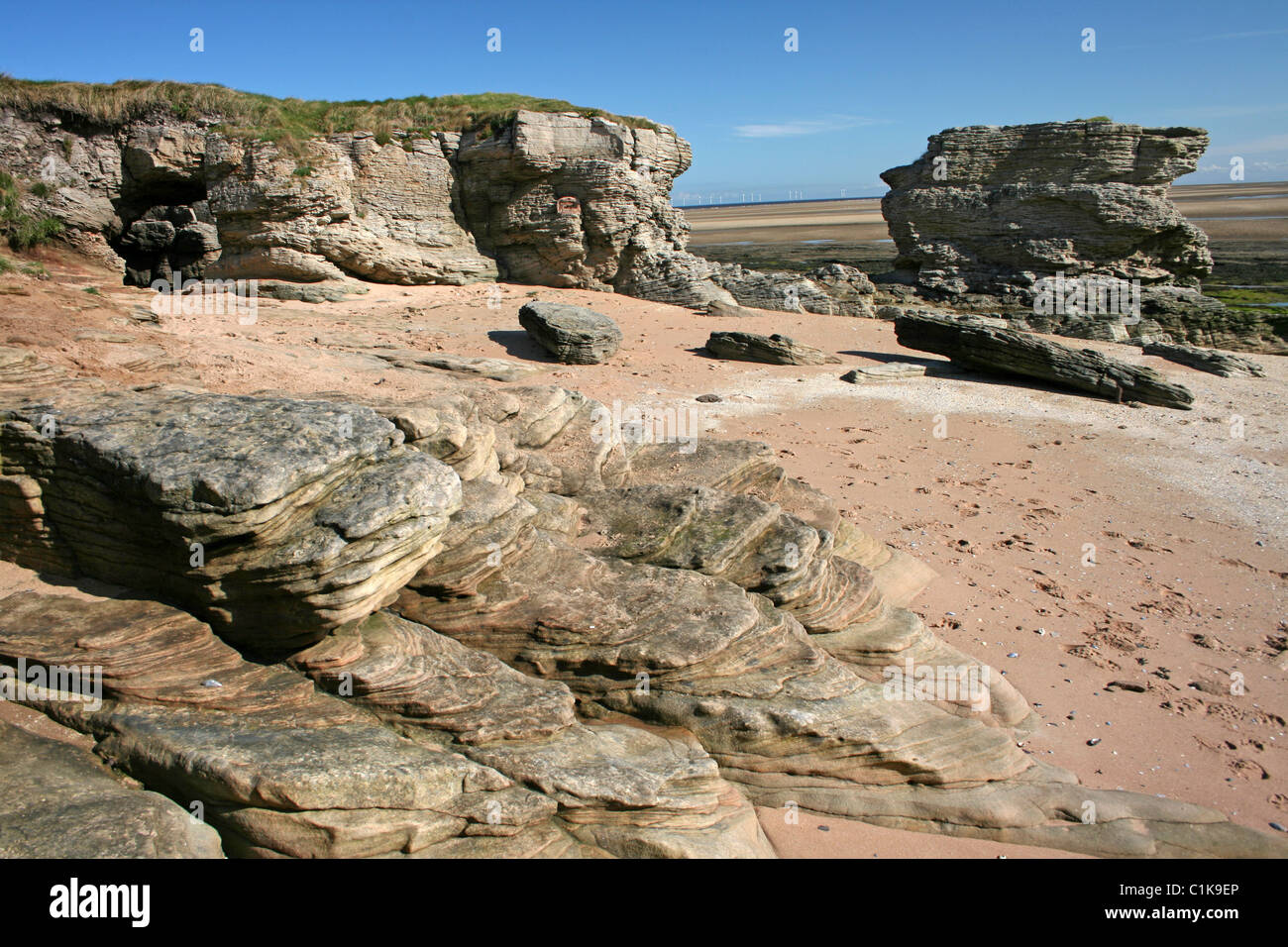 Hilbre Island, A Site Of Special Scientific Interest In The Dee Estuary, Wirral, UK - Stock Image