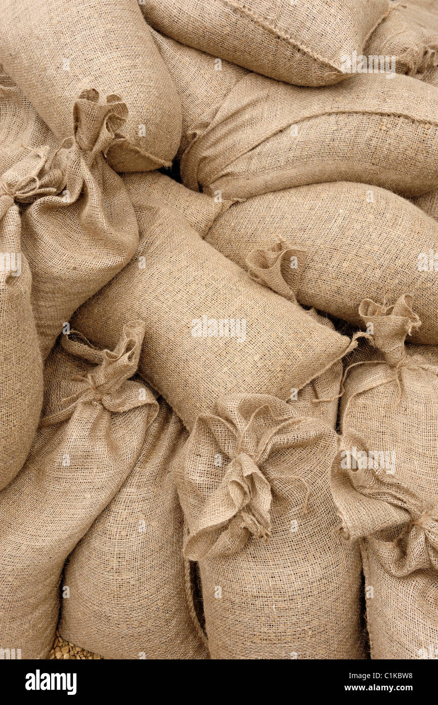 Sand bags - Stock Image