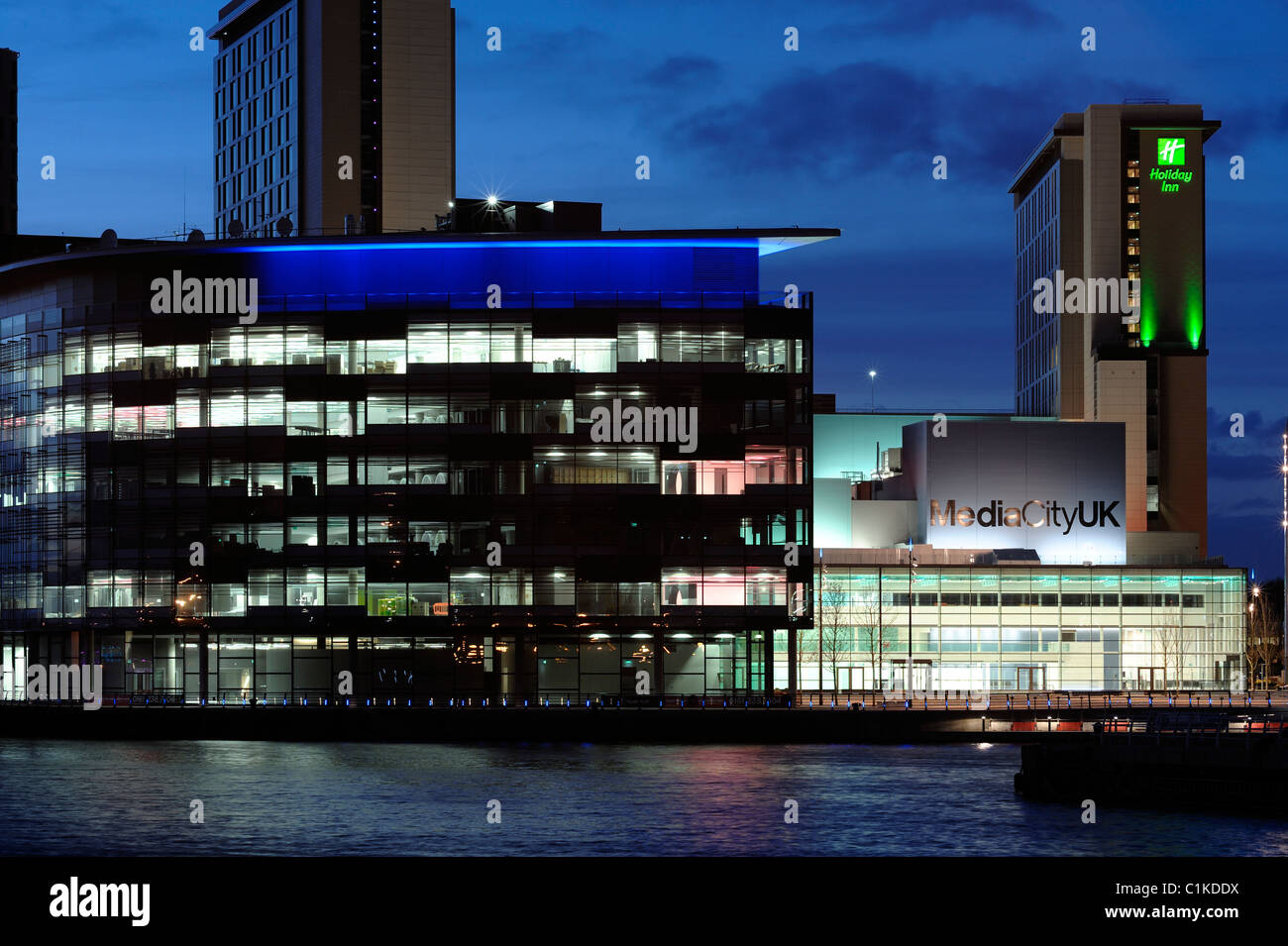 BBC Media City UK Salford Quays - Stock Image